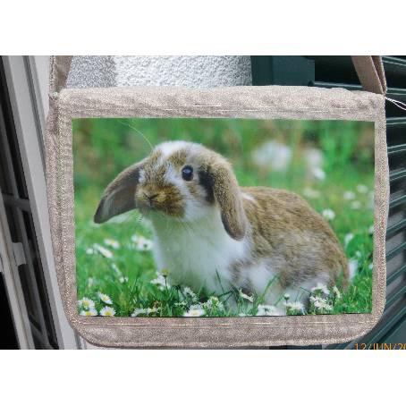 Tasche Schnuffel, Zwergwidder, Messenger-Bag  Kaninchen Bild 1