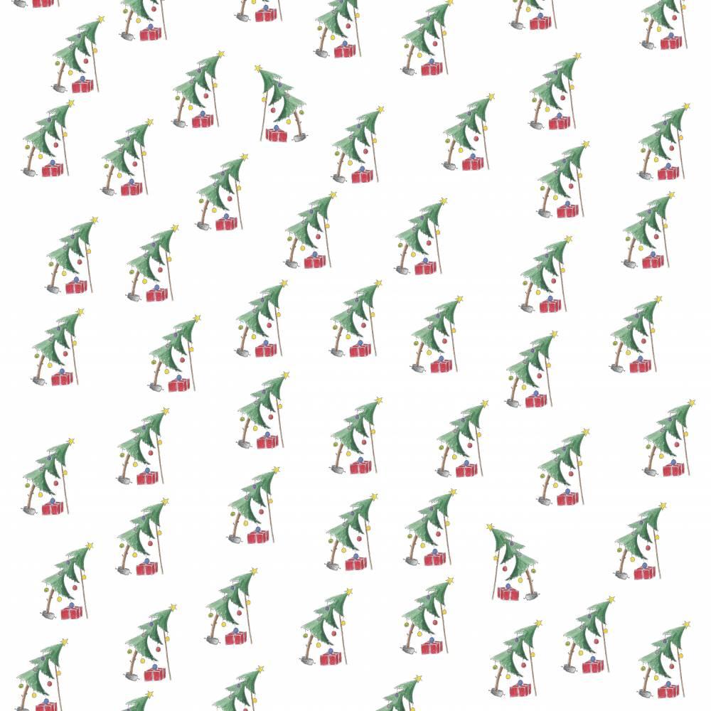 """Geschenkpapier """"Schiefer Baum"""" Weihnachten gerollt Bild 1"""