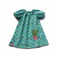 KLEID Hängerchen Mädchen Frühling Sommer Kaktus Geschenk Geburtstag Geburt Taufe Baby Einschulung Gr. 86 - 152 Bild 1