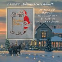 """Freebie Stickdatei """" Weihnachtsmann 13 x 10 """"  Bild 1"""