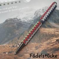 Kugelschreiber für sie oder ihn - in Handarbeit mit Glasperlen umfädelt Bild 1