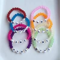 """Kinderarmband """"Frosty"""" - verschiedene Farben und Buchstaben"""