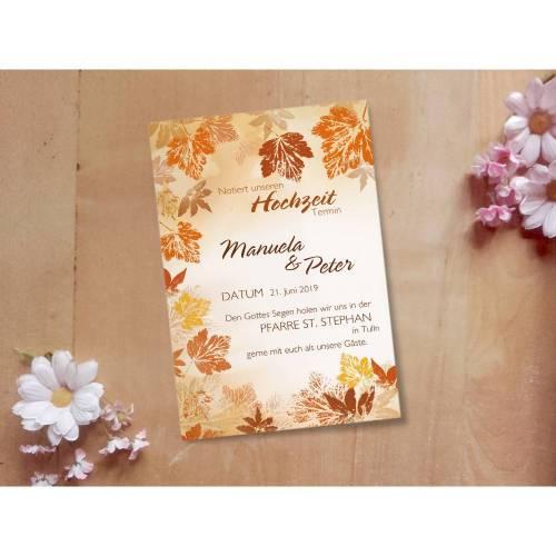 Hochzeitsdesign Herbstwind Printable DIY