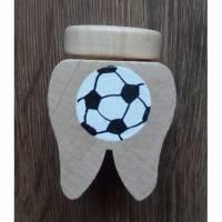 Zahndose Fußball  Milchzahndose Personalisiert Zahnaufbewahrung Bild 1