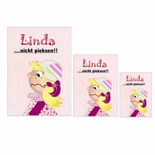Schutzhüllen für U-Heft, Impfpass und Krankenversicherungskarte, personalisiert, Motiv Mädchen