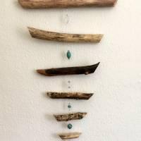 Treibholz Windspiel wahlweise mit Feng shui Glocke oder Feng shui Kristall Bild 2