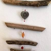 Treibholz Windspiel wahlweise mit Feng shui Glocke oder Feng shui Kristall Bild 6