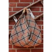 Origami-Tasche XXL Shopper Beutel japanische Einkaufstasche Bento-Bag Tartan kariert Bild 1