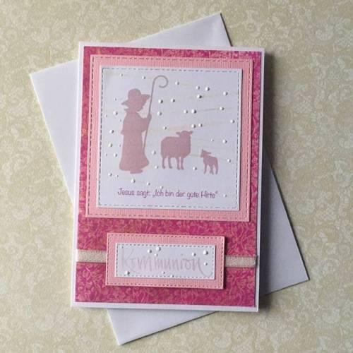 Kommunion, Kommunionskarte, Glückwunschkarte Kommunion, Einladungskarte zur Kommunion