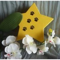 Urne für Katzen oder Hunde, Andenken, Kleintier, Tierurne , Stern mit Pfoten, Erinnerung