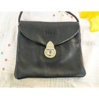 Handtasche, Abendtasche, kleine Ledertasche, Firma BREE, Vintage aus 1990, dunkelblau, fast schwarz, klein, Vintage Bild 1