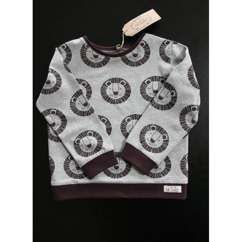 """Langarm T-Shirt aus weichem BIO Jersey mit Löwen Print """"Löwe Bo"""" designed by Lillemo von Lillestoff Bild 1"""