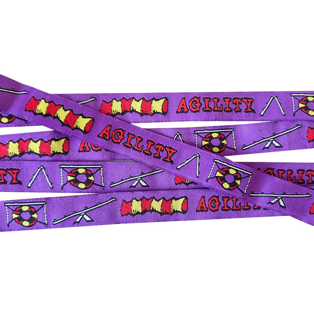 Agility Webband Hund, lila, 16mm breit, Hunde, 1 Meter Bild 1