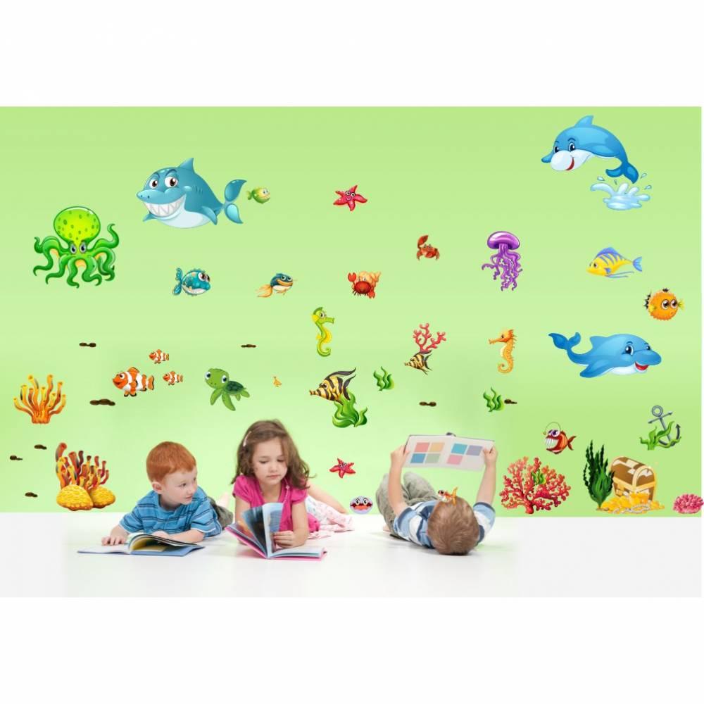 059 Wandtattoo Wandbild Kinderzimmer Unterwasserwelt