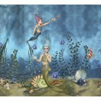 Stenzo Jersey Digitaldruck Nixen Unterwasserwelt Panel 120 x 150 cm Bild 1