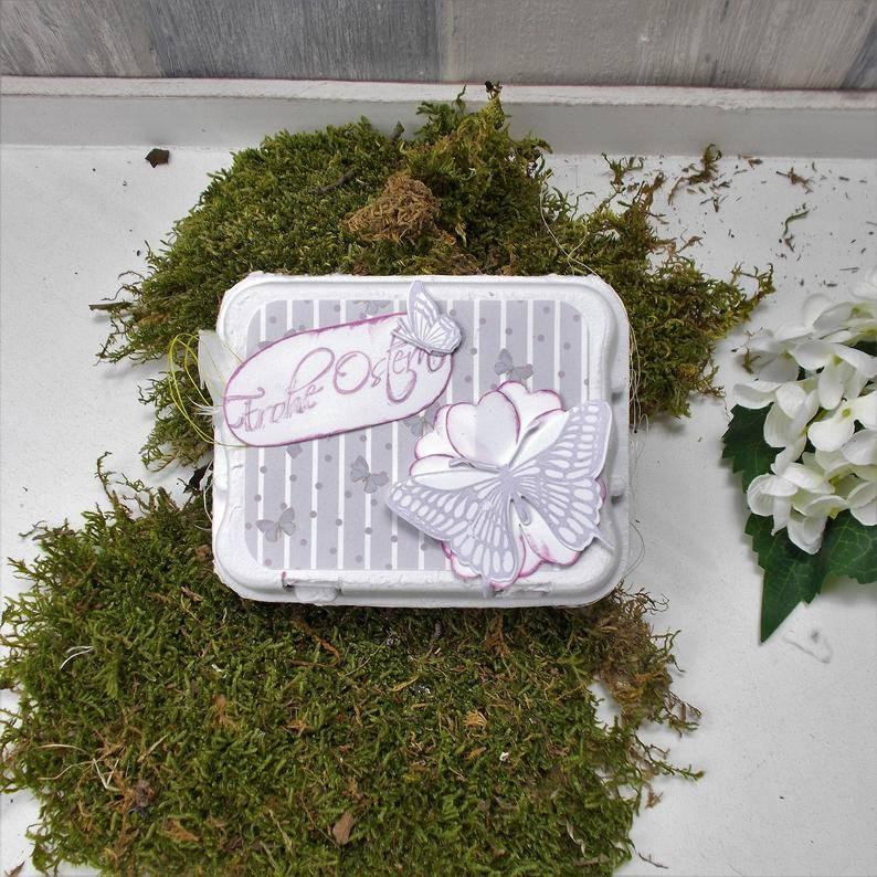 Ostergeschenk, kleines Mitbringsel, Ostern, Osternest, weiß 2 Bild 1