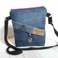Handtasche - Umhängetasche - cooles Jeansupcycling Bild 1