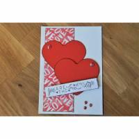 1 Glückwunschkarte zum Valentinstag Karte  Bild 1