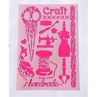 Schablone Vintage handcraft Motive Bild 1