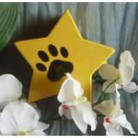 Kleine Urne für Katzen oder Hunde, Andenken, Kleintier, Tierurne , Stern mit Pfoten, Erinnerung Bild 1