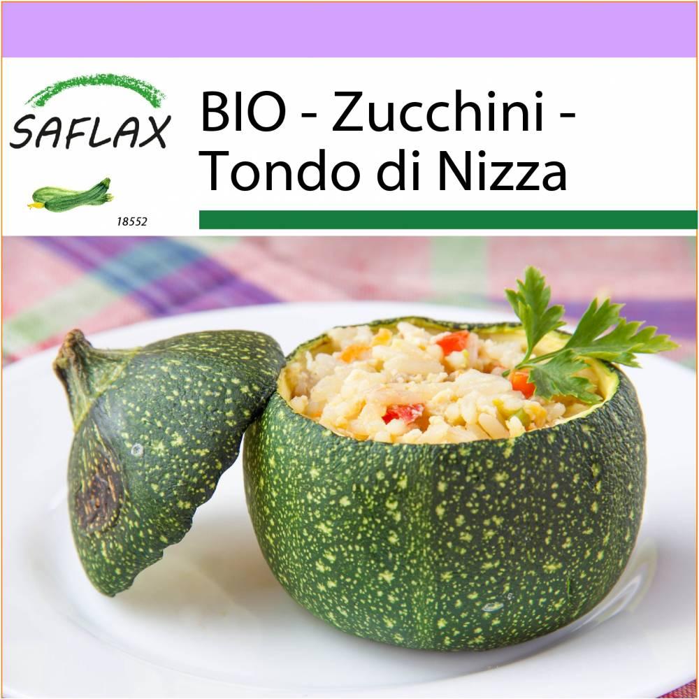 SAFLAX - BIO - Zucchini - Tondo di Nizza - 5 Samen - Cucurbita pepo Bild 1