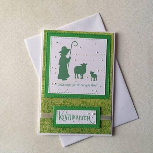 Kommunion, Kommunionskarte, Glückwunschkarte zur Kommunion, Grußkarte zur Kommunion, Einladungskarte