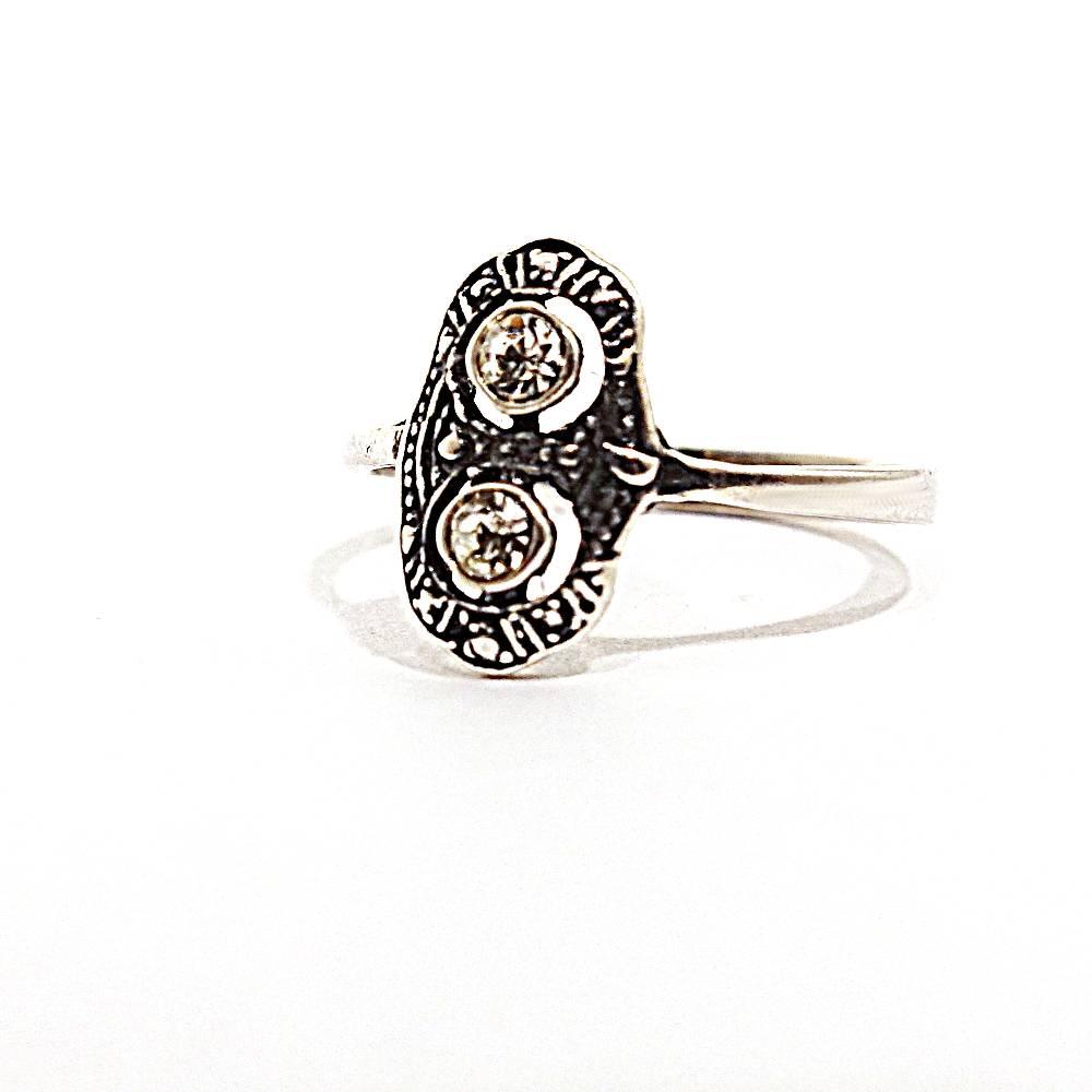 Original Vintage Ring im Art Déco Stil aus den 60er/70er Jahren Bild 1
