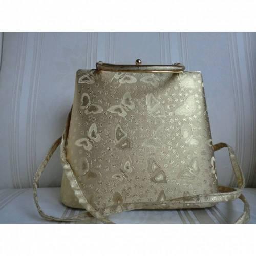 Vintage - goldfarbene Abendhandtasche - von alte Schätze