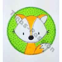Applikation Aufnäher Doodle Fuchs Bild 1