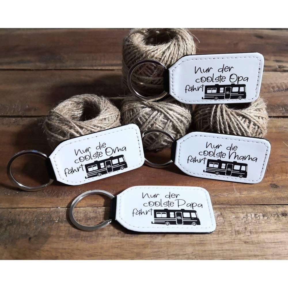 Schlüsselanhänger für Camper mit Wohnmobil, Schlüsselanhänger mit Text Bild 1