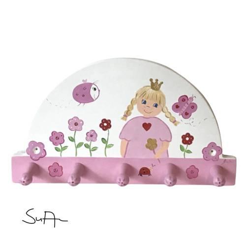 """Kindergarderobe """"kleine Prinzessin """"  Garderobe Kinderzimmer Mädchen"""