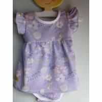 Kleinkind Bio Baumwolle Kleidchen Größe 68, Jersey Kleidchen, suße lila Jersey Kleid mit Body, Mädchen Kleidchen Fee Kleid Bild 1