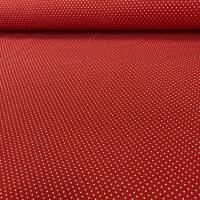 Roter Jersey mit kleinen weißen Punkten