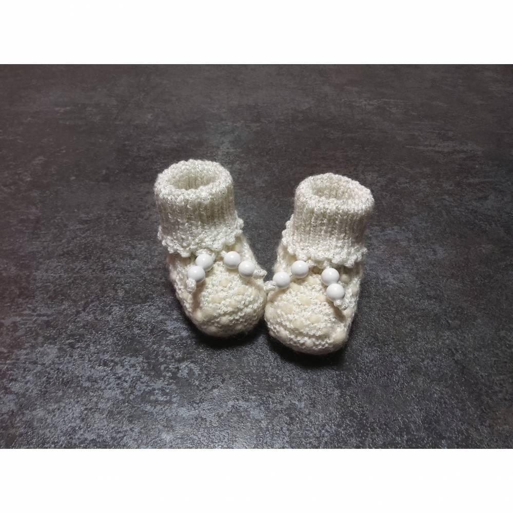 Babystrickschuhe, Zürdelsocken bis 6 Moante Bild 1
