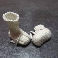Babystrickschuhe, Zürdelsocken bis 6 Moante Bild 2