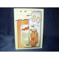 Geburtstagskarte zum 60. für einen Mann Bild 1