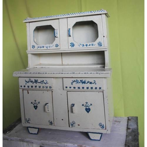 Vintage Puppen Buffetschrank Bauernmöbel