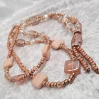 XL-Halskette, Glasperlen-Mix, Braun/Beige Bild 2