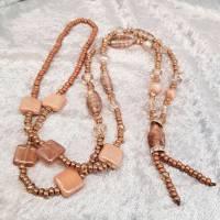 XL-Halskette, Glasperlen-Mix, Braun/Beige Bild 4