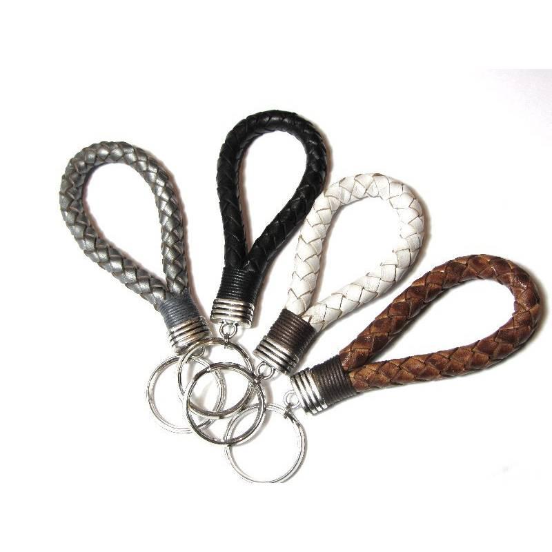 Schlüsselband Schlüsselanhänger Leder FARBWAHL Bild 1
