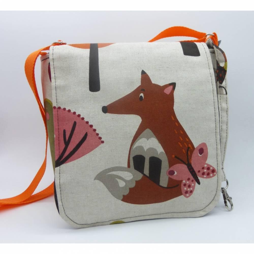 Kindergartentasche Fuchsi mit wasserfester Innentasche-ein hessmade Unikat Bild 1