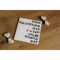 """Grußkarte """"Fuck Valentinesday"""" aus der Manufaktur Karla Bild 3"""