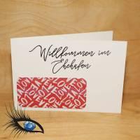 """[2019-0289] Klappkarte """"Willkommen im Ehehafen"""" - handgeschrieben Bild 1"""
