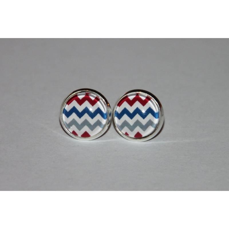 1 Paar Ohrringe / Ohrstecker Zackenlinien Bild 1