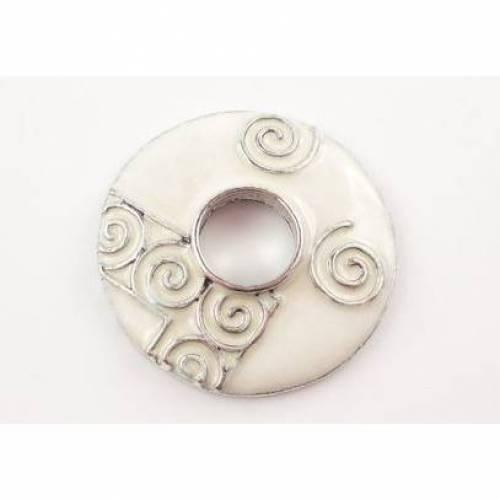 Scheibe für Wechselschmuck ,Scheibe, Wechselscheibe, Metallscheibe, Muster,24 mm,021