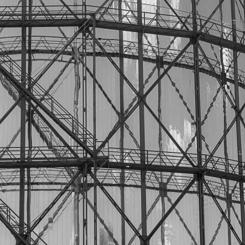 Gasometer Fotografie Kunstdruck Aluminiumdibond Butlerfinish