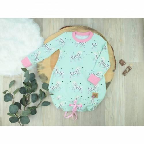 Ballontunika Kleidchen Kinderkleid Zebra Gr. 80 Kleid mint