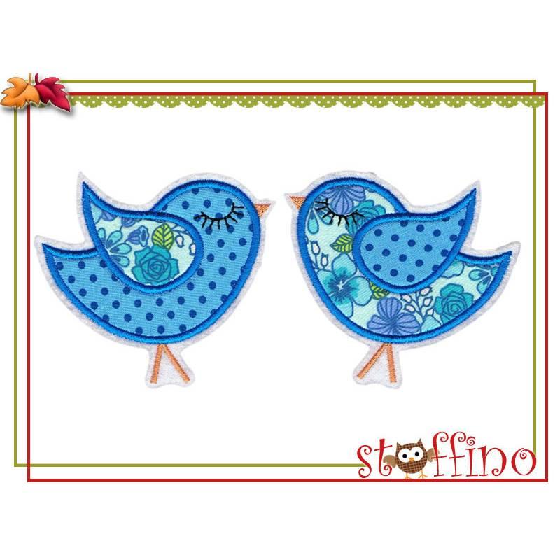 Vogelpaar Applikation Vogel Vogelpärchen Bild 1