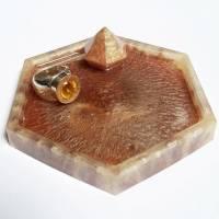 Schmuckschale/Ringschale/Untersetzer aus Gießharz - trinket dish, resinart Bild 1