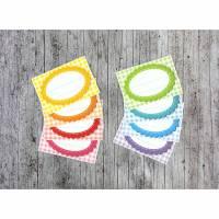 Einmachetiketten **KaRiert1** von ZWEIFARBIG 16 Stück gummiertes Papier Aufkleber Sticker Dekoration Etiketten Marmeladenetikett Selbsteingemachtes Bild 1